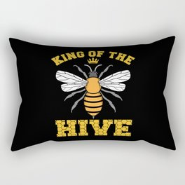 King of the HIVE Beekeepers Bee love whisperer Rectangular Pillow