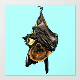 Extinked - Rodrigues Flying Fox Canvas Print