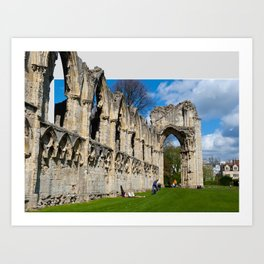 York St Marys Abby Art Print