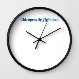 Happy Chiropractic Physician Wall Clock