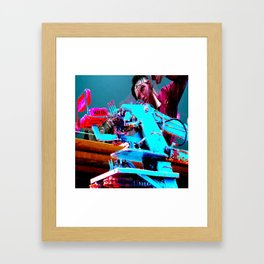 Quick!  Engage the Wax Machine! Framed Art Print