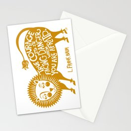 True Courage Cowardly Lion Stationery Cards