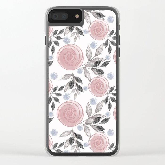 Delicate floral pattern. Clear iPhone Case