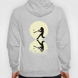 Moon Baseball Tee Shirt Hoody
