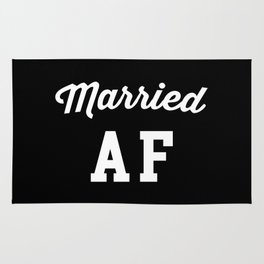Married AF Funny Quote Rug