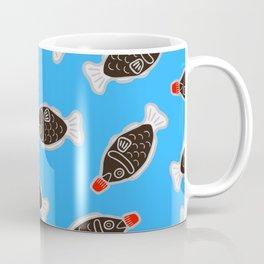 Sushi Soy Fish Pattern in Blue Coffee Mug