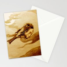 Sparrow by Moonlight Stationery Cards