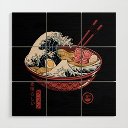 Great Ramen Wave Wood Wall Art