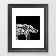Elephant Black Framed Art Print