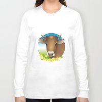 cow Long Sleeve T-shirts featuring cow by Li-Bro