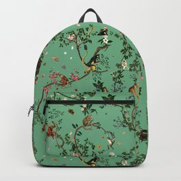Monkey World Green Backpack