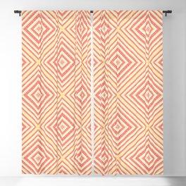 Slavic Square Mandala - Odolen Trava - Symbol Pattern - Golden Red Rhombic Blackout Curtain