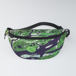 green forest abstract digital painting Fanny Pack