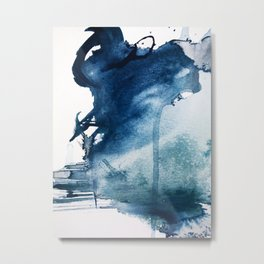 Pacific Grove: a pretty minimal abstract piece in blue by Alyssa Hamilton Art Metal Print