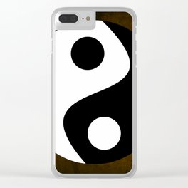 Yin and Yang - Brown Clear iPhone Case