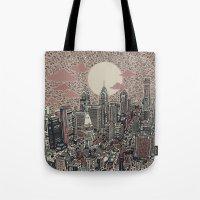 philadelphia Tote Bags featuring philadelphia by Bekim ART