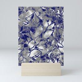 Grunge Art Silver Floral Abstract G169 Mini Art Print