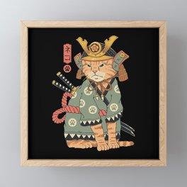 Neko Samurai Framed Mini Art Print