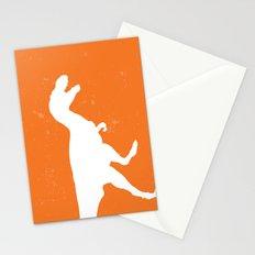 T-rex Orange Dinosaur Stationery Cards