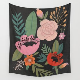 Floral Guache Wall Tapestry