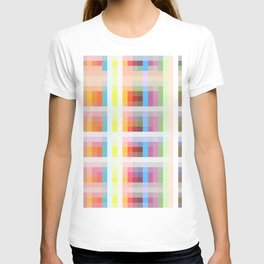 colorful grid T-shirt