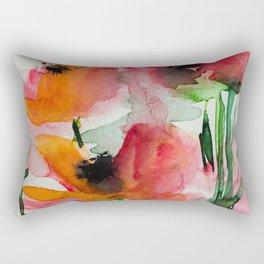 red flowers in the garden Rectangular Pillow