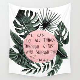 Philippians 4:13 Wall Tapestry