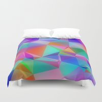 stained glass Duvet Covers featuring Stained Glass by Stuff.