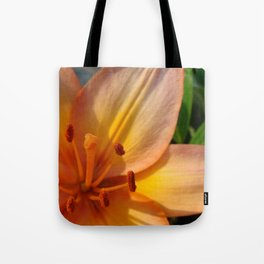 Orange Lily Closeup Tote Bag