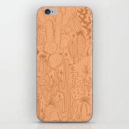 Cactus Scene in Orange iPhone Skin
