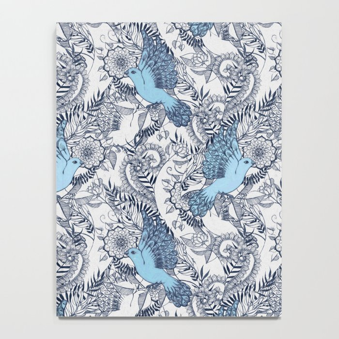 Flight of Fancy - navy, blue, grey Notebook