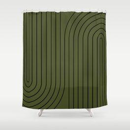 Minimal Line Curvature XVIII Shower Curtain