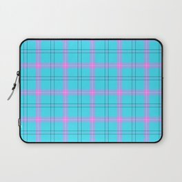 bright blue and pink plaid Laptop Sleeve