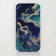 DRAMAQUEEN - GOLD INDIGO MARBLE Slim Case Galaxy S7