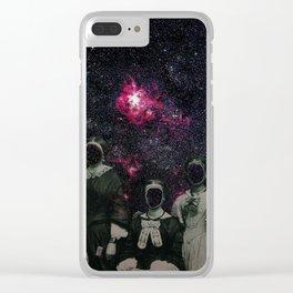 Untergang · Der Blick ins Universum Clear iPhone Case