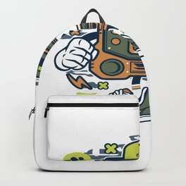 Retro Gamerfor animated characters comics and pop culture lovers Backpack