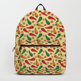 Hot Peppers Doodle Pattern - Taco Series Backpack