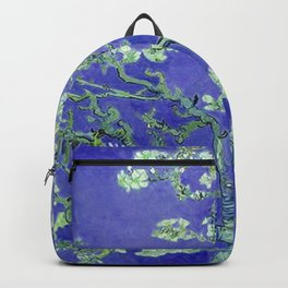 Almond Blossoms Deep Blue Backpack