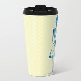 blue girl Travel Mug