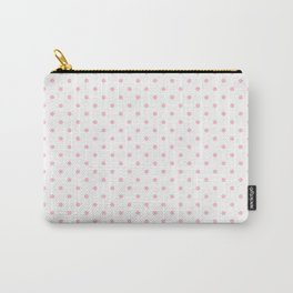 Dots (Pink/White) Carry-All Pouch