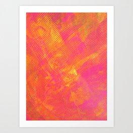 Pink and Orange Stripes Art Print