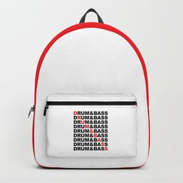 Drum & Bass List Rave Quote Backpack