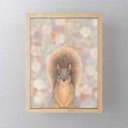 fox squirrel woodland animal portrait Framed Mini Art Print