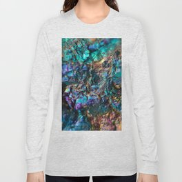 Turquoise Oil Slick Quartz Long Sleeve T-shirt