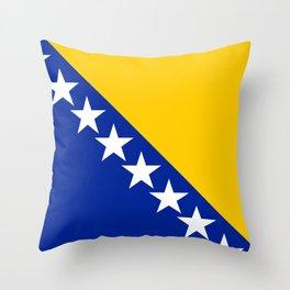 Bosnia And Herzegovina Flag Throw Pillow