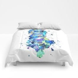 Albania Map Comforters