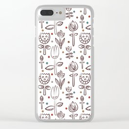 Pattern in Nordic Floral Style #4 Clear iPhone Case