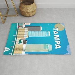 Tampa, Florida - Skyline Illustration by Loose Petals Rug