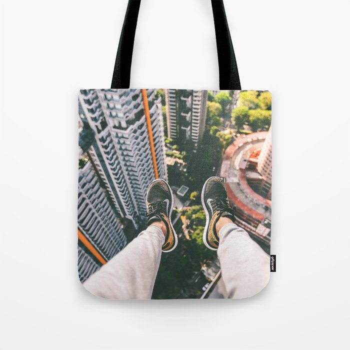 view high above top 5 Tote Bag