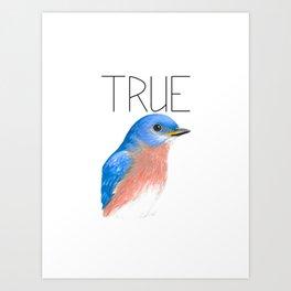 True Blue (Eastern Bluebird) Art Print